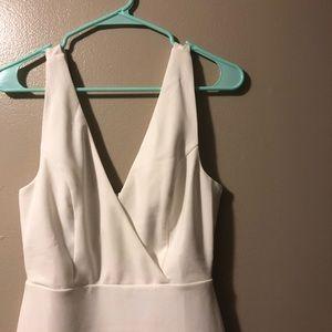 Vici white bodycon mini dress